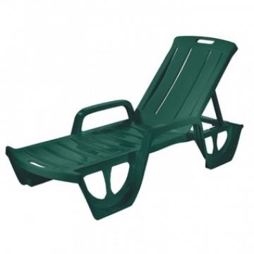 Sezlong Strend Pro Florida 190x92x30 cm, maxim 100 kg, verde