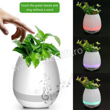 Suport pentru flori Smart cu Bluetooth, LED si Touch de la Thegift.ro - Cadouri Online