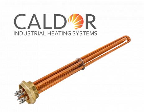 Rezistenta boiler si uz industrial din cupru cu filet 15000W de la Caldor Industrial Heating Systems Srl