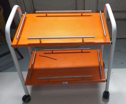 Carucior aparatura -consuma - 2 polite, cu roti - 60x40x60cm