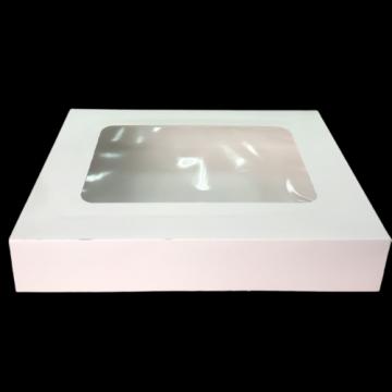 Cutie alba carton cu fereastra 24,5x34,5x6,5cm, 25 buc/set de la Cristian Food Industry Srl.