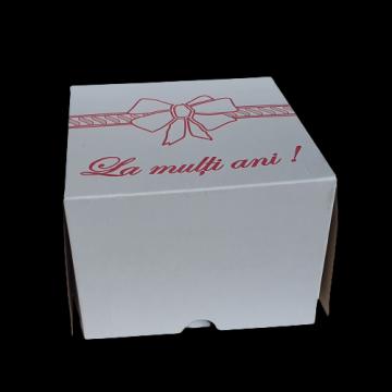 Cutii albe tort 33x33x25cm 10 buc/set de la Cristian Food Industry Srl.
