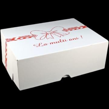 Cutii albe tort CT7 (41x51x16cm) 25 buc/set de la Cristian Food Industry Srl.