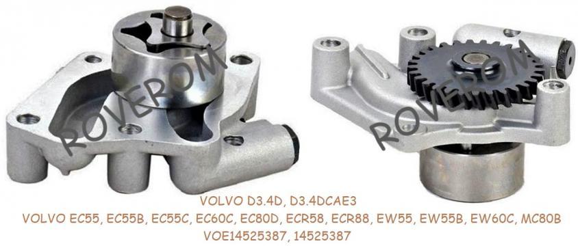 Pompa ulei Volvo D3.4D, Volvo EC55, EC60C, EC80D ECR58 ECR88