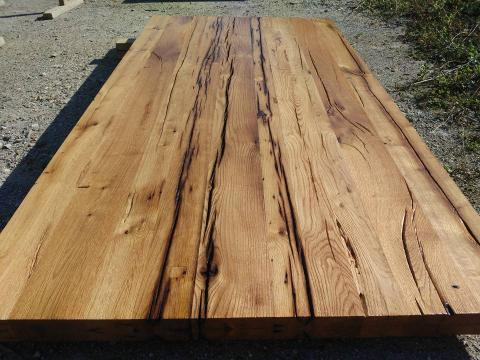 Mese rustice din lemn masiv de stejar de la Menco-prod Srl