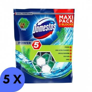 Odorizant de toaleta Domestos Power5 Pine 5x55g