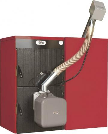 Cazan mixt lemn/pelet Ferroli Sunpellet 3, 22kW de la Axa Industries Srl