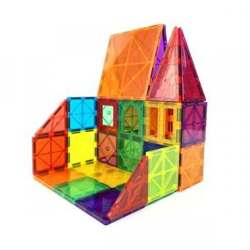 Joc de constructie magnetic, Magnetic Tiles Castle, 48 piese de la Arca Hobber Srl