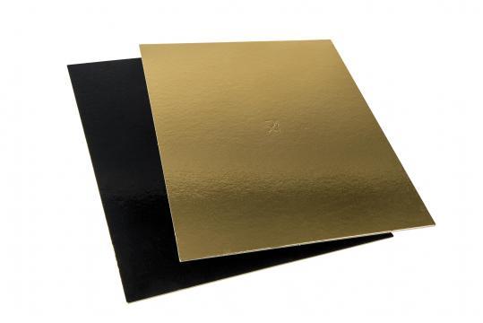 Planseta dreapta auriu/negru 12x12cm de la Cristian Food Industry Srl.