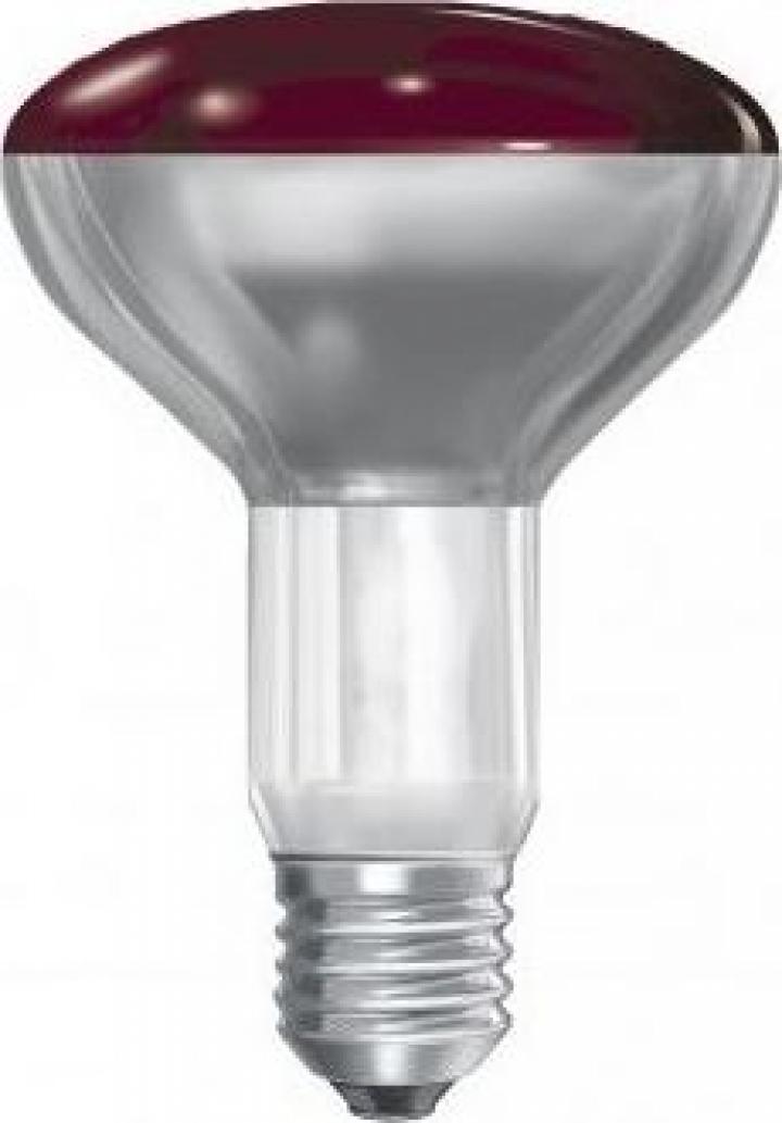 Bec infrarosu E27 150W BR125, 230-250V
