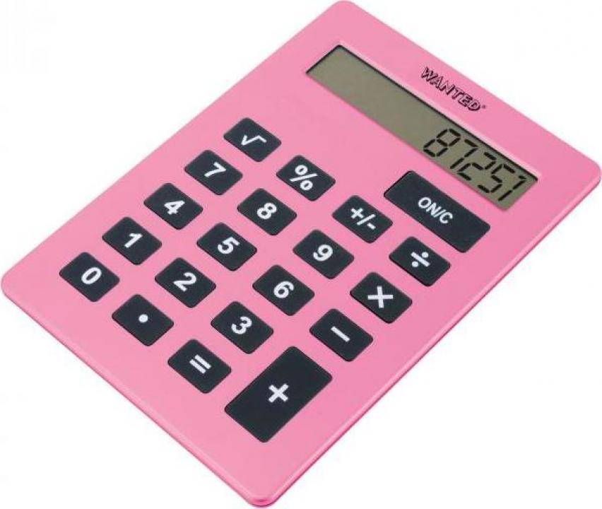 Calculator XXL - A4 Roz
