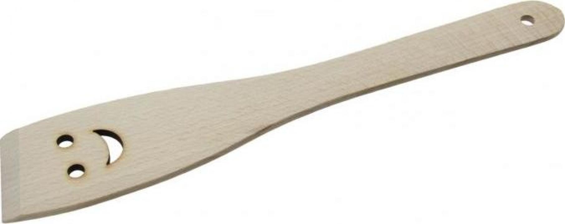 Lingura din lemn dreapta cu orificiu