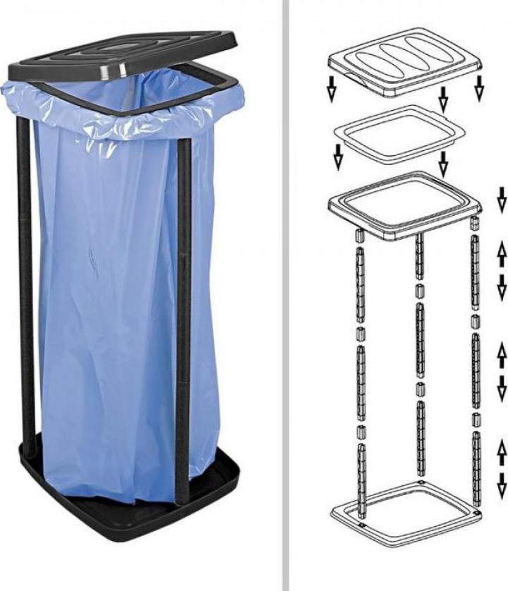 Suport pentru saci de gunoi - 60 litri
