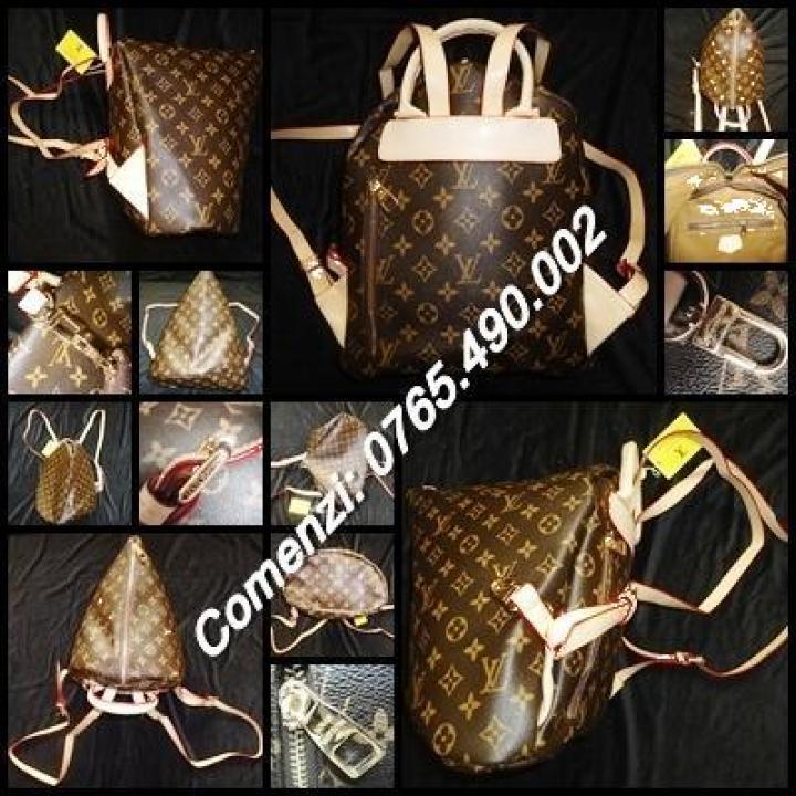 Rucsac dama 5 compartimente Louis Vuitton piele eco