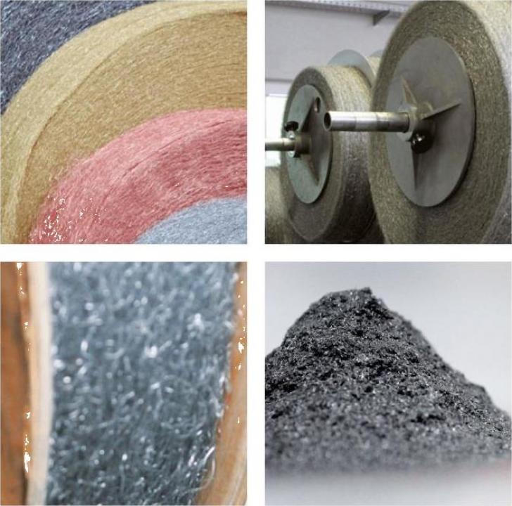 Lana de otel aluminiu inox cupru si alama/ fibra metalica