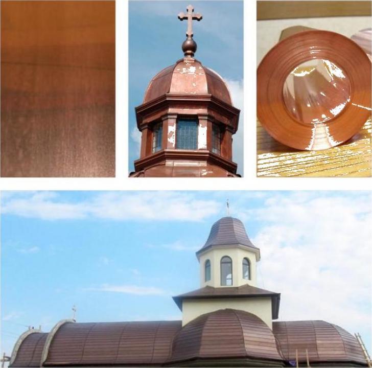 Tabla de cupru pentru acoperis biserici