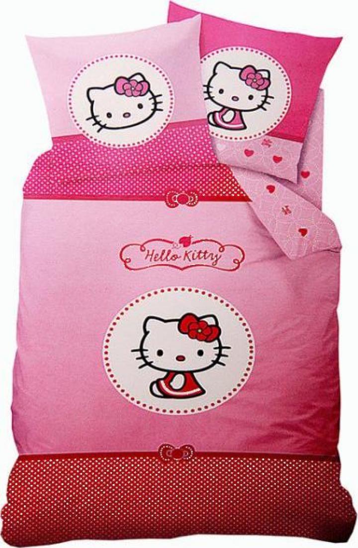 Lenjerie de pat Hello Kitty