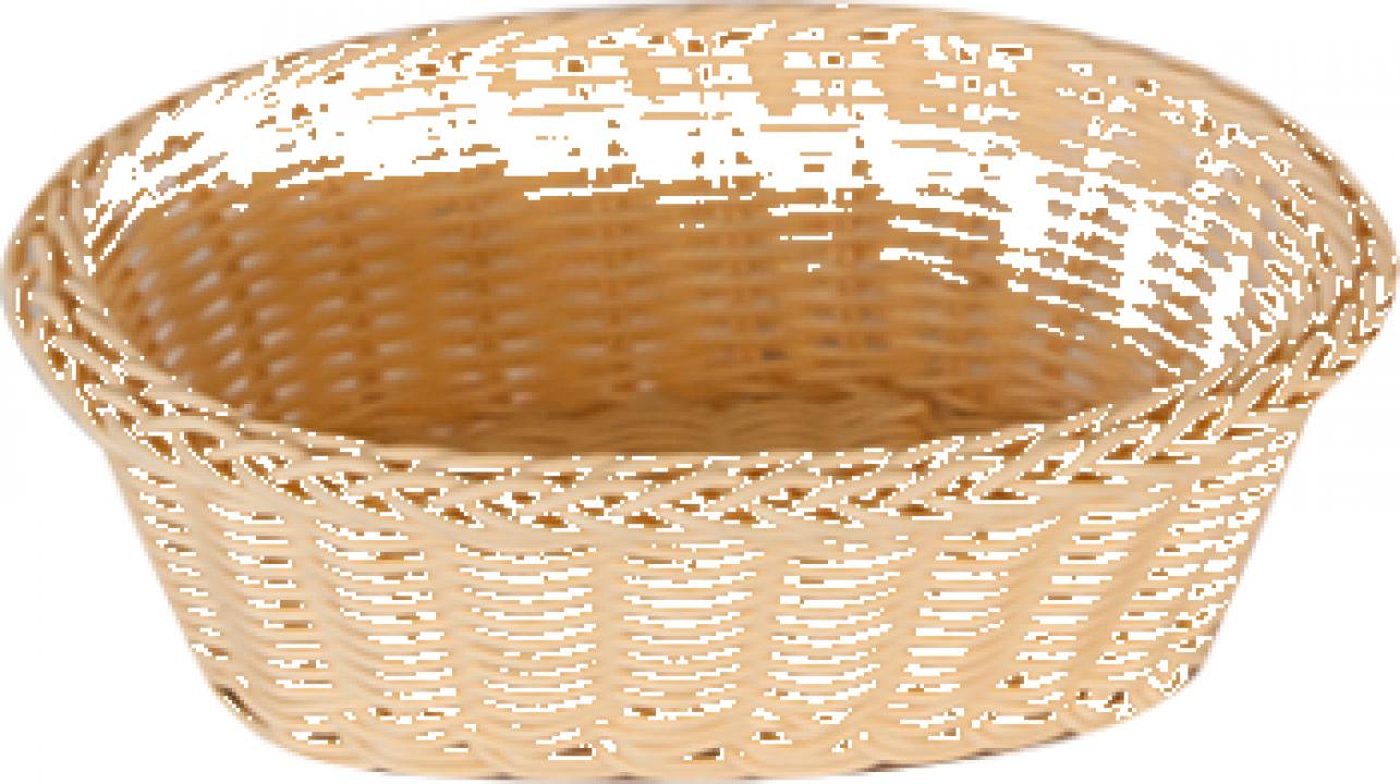 Cos servire paine oval Raki 21x16x7cm culoare natural