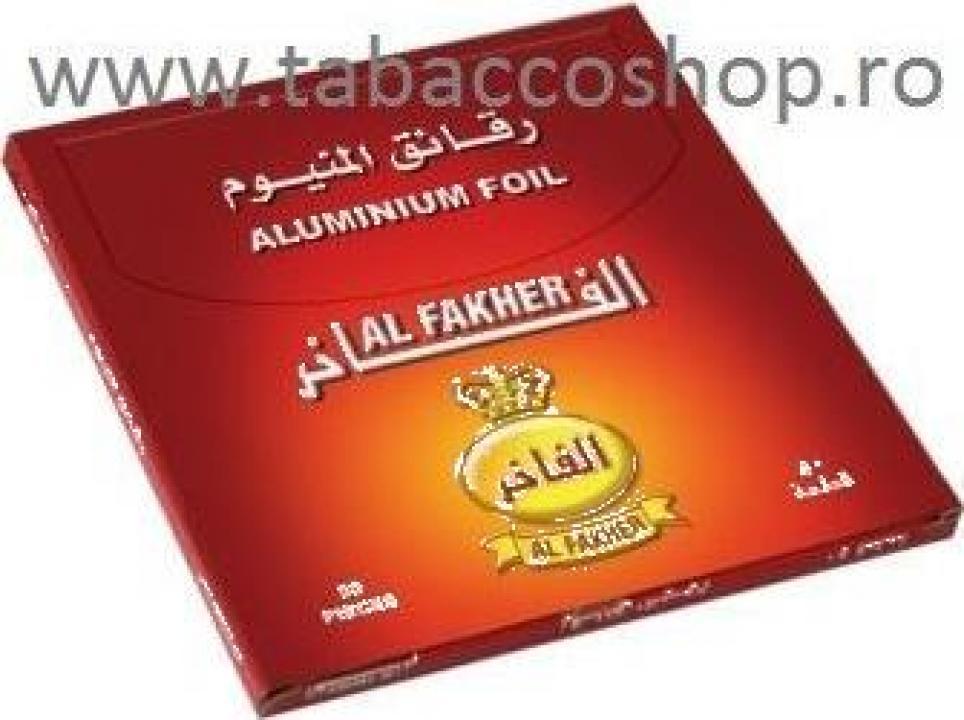 Folii aluminiu Al Fakher 35 pentru carbuni narghilea