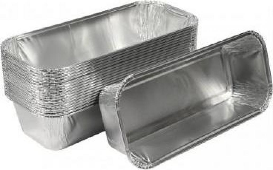 Caserola din aluminiu pentru chec R15G 100 buc/set