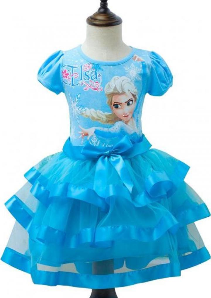Rochita eleganta Elsa, volane, voal