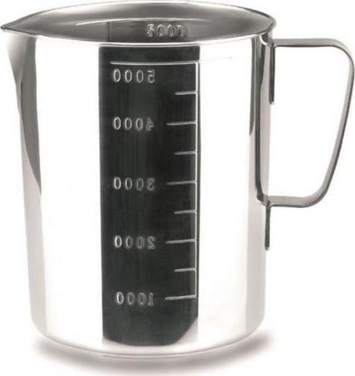 Cana inox gradata 5 litri