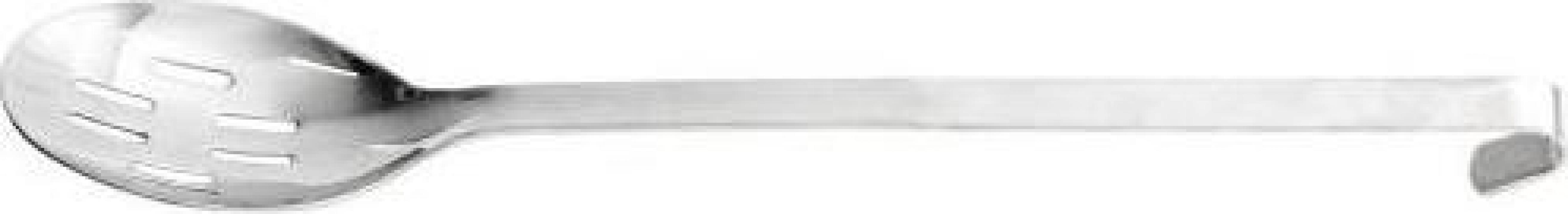 Lingura inox servire perforata monobloc 40 cm