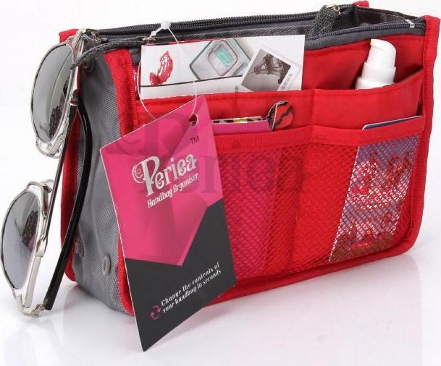 Organizator geanta sau poseta Chelsy-rosu mic