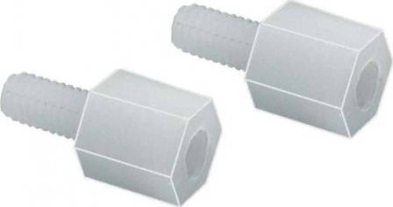 Distantier plastic filet int/ext M3 x 10 mm (10 buc)