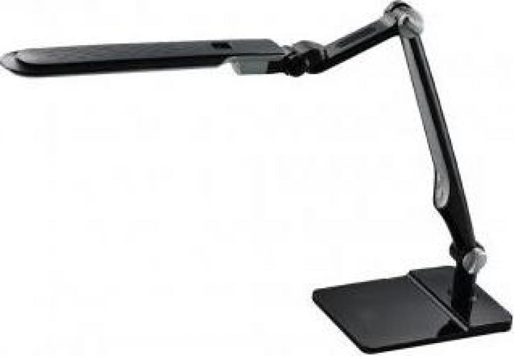 Veioza pentru birou, Ebru, neagra, articulate, 10 W, 600 lm