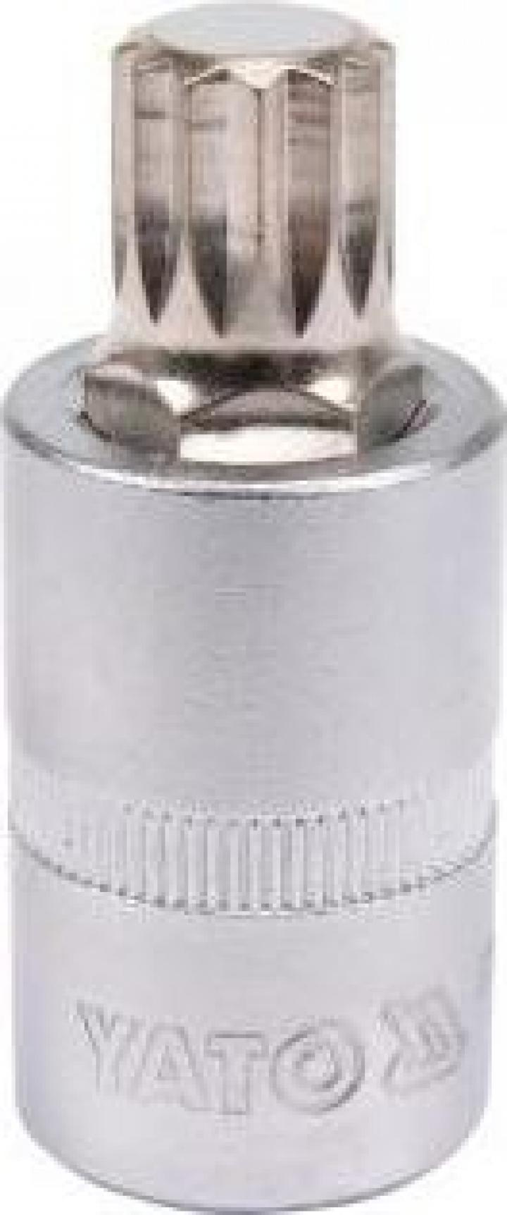 "Bit Spline M14 cu adaptor 1 2"", 55 mm, Cr-V, Yato YT-04345"