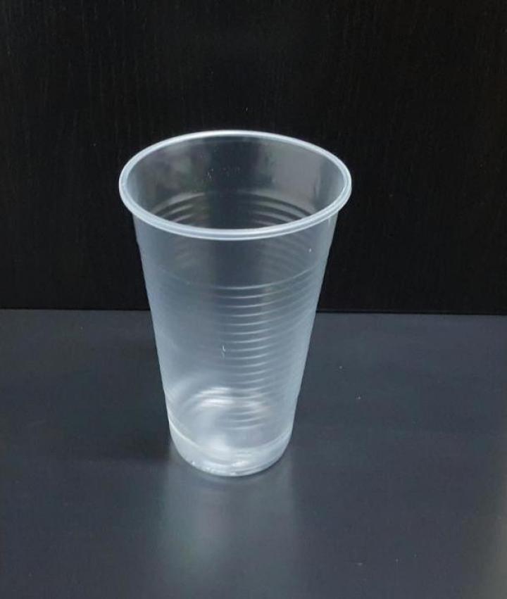 Pahar plastic transparent 330cc 100buc/set
