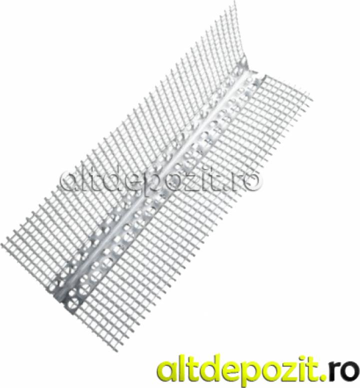 Profil colt aluminiu cu plasa