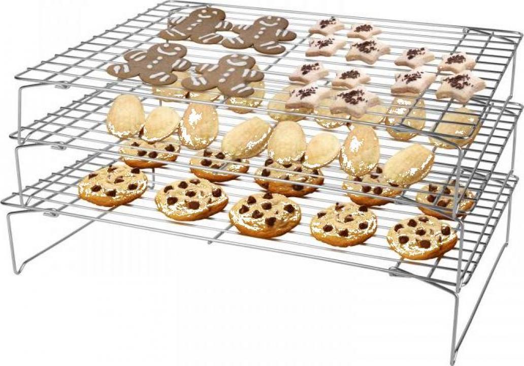 Suport-gratar racire prajituri cu 3 niveluri