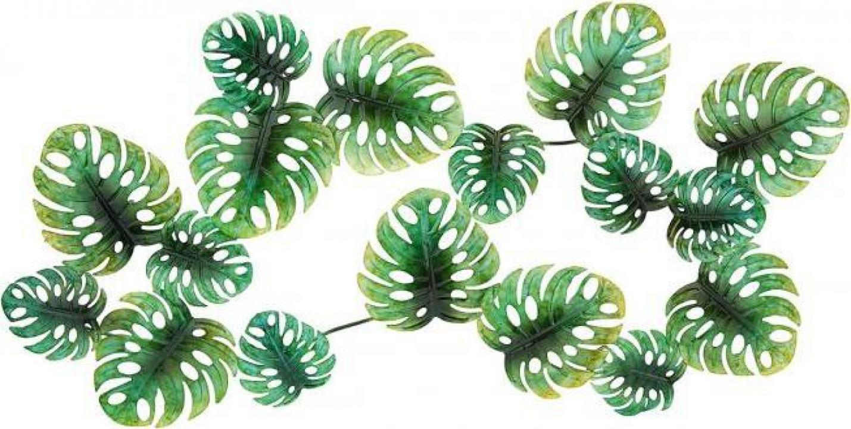 Decoratiune de perete Green Ginkgo, metal, 82 x 2 x 43 cm