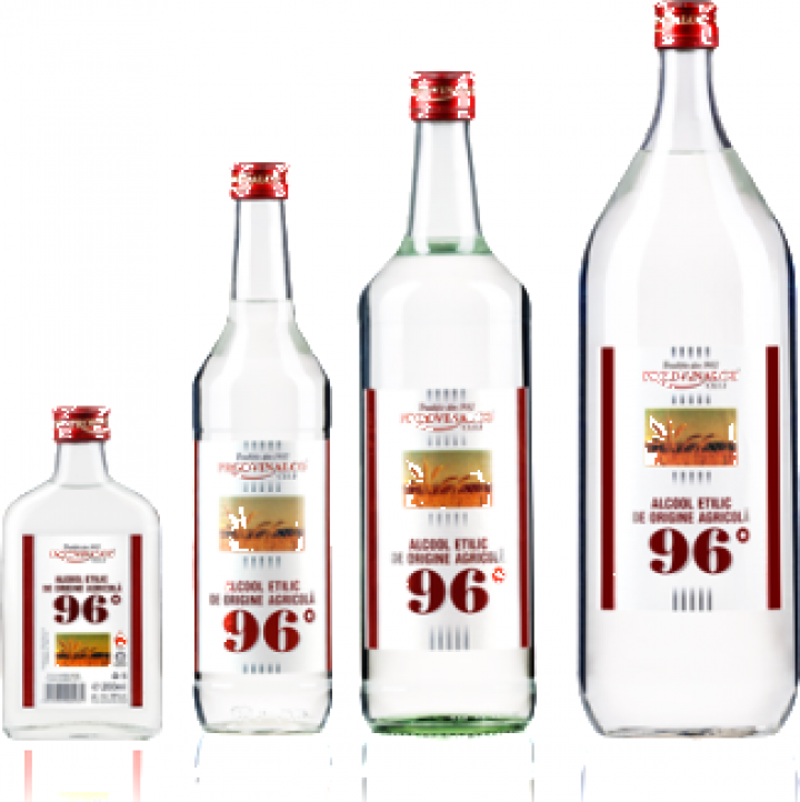 Alcool rafinat 96* 1 litru (ambalaj de sticla)