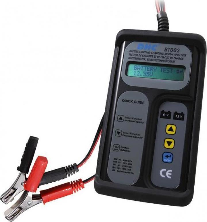 Tester digital acumulatori auto DHC BT002