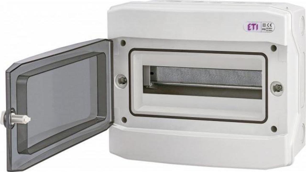 Tablou electric aplicat 12 module, IP65 ETI