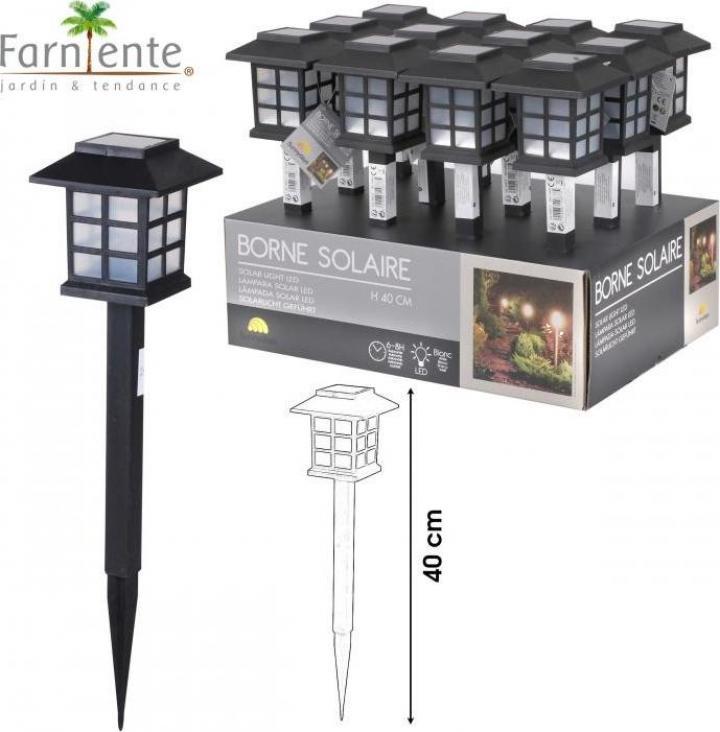 Lampa solara gradina - felinar 40 cm