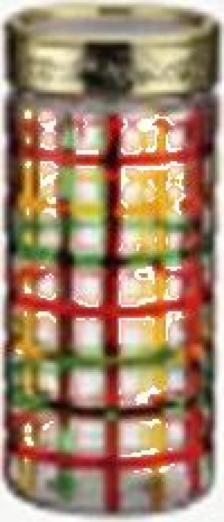 Borcan din sticla pictat manual - 1300 ml