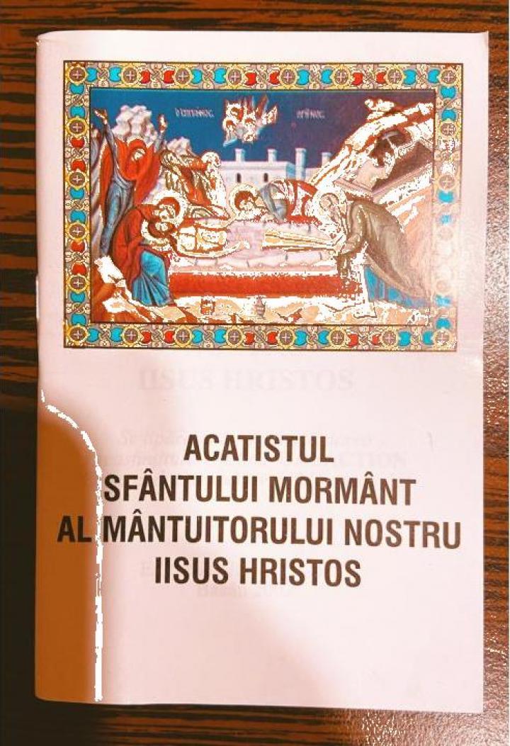 Carte, Acatistul Sfantului Mormant al Mantuitorului
