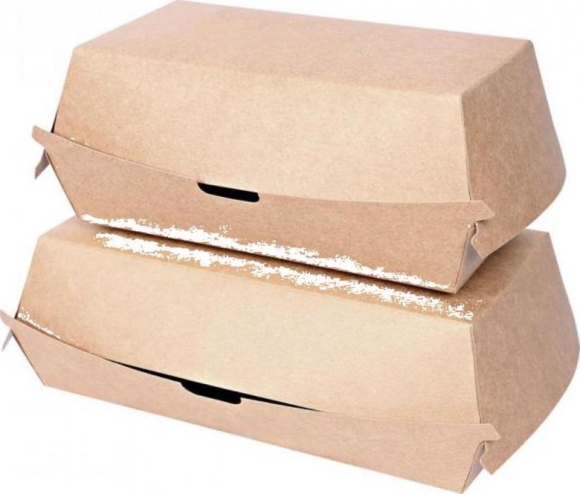 Cutie sandwich Club 17.7x9.1x8.5cm - hartie kraft impregnata