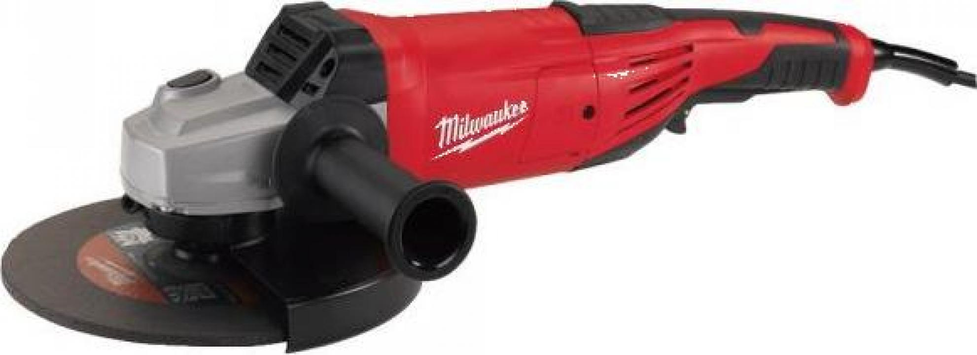 Polizor unghiular Milwaukee AG 22-180 DMS, 2200 W, 180 mm