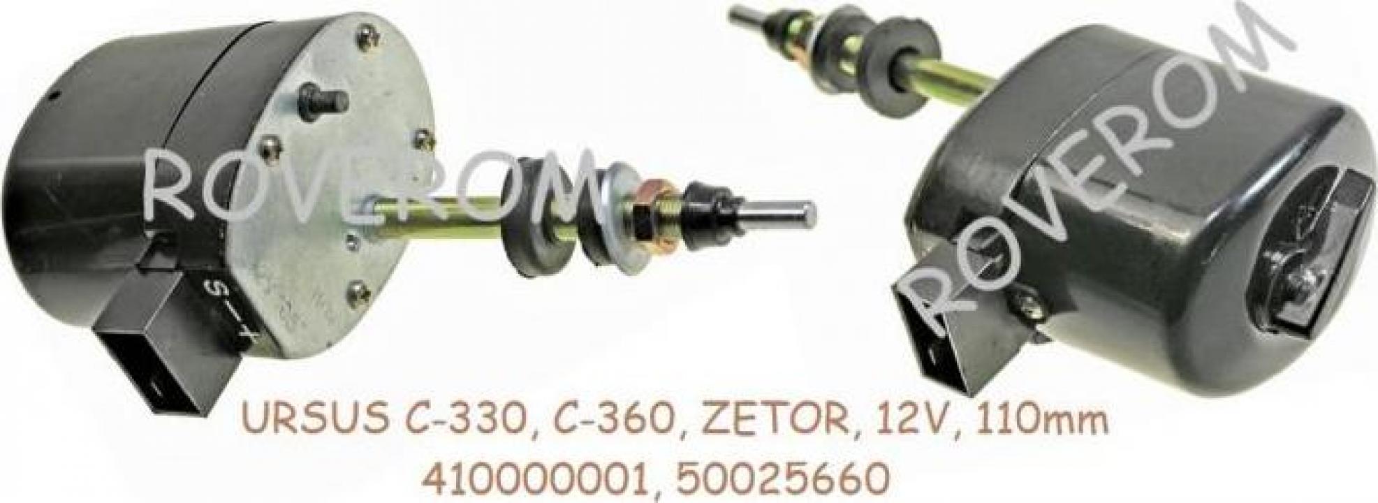 Motoras stergator parbriz Ursus C330, C360, Zetor, 12V 110mm