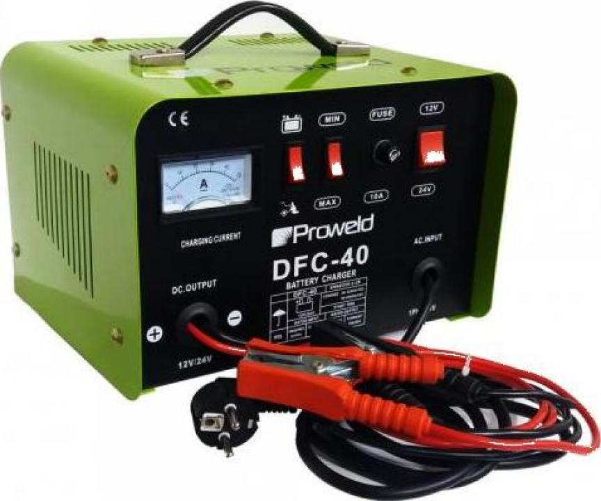 Redresor acumulatori ProWeld DFC-40, 12V/24V, functie Start