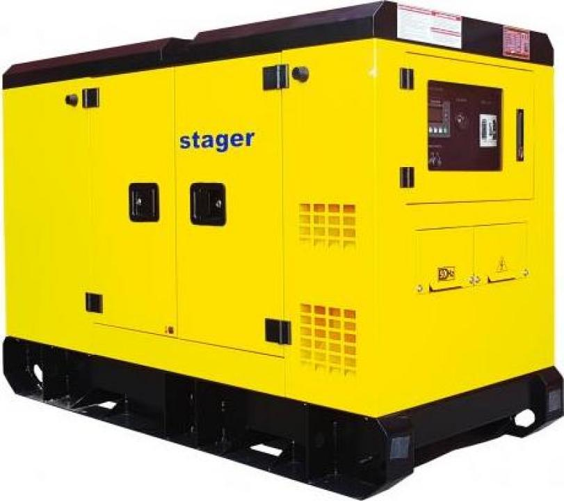Generator silent, diesel, 182kVA, Stager YDY182S3