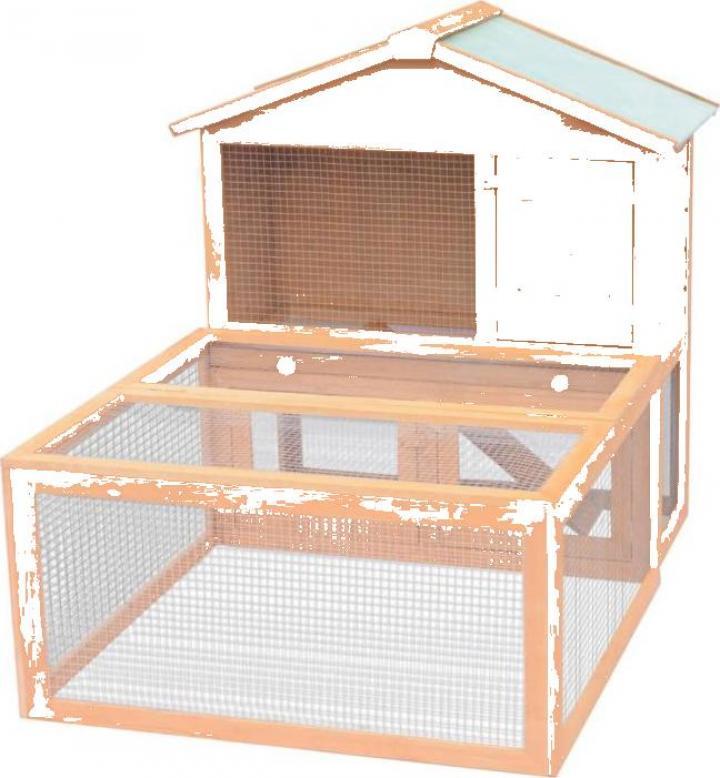 Cusca pentru iepuri si alte animale de exterior, lemn