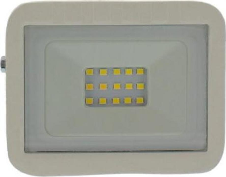 Proiector LED 10W 800lm IP65 4000K alb Well