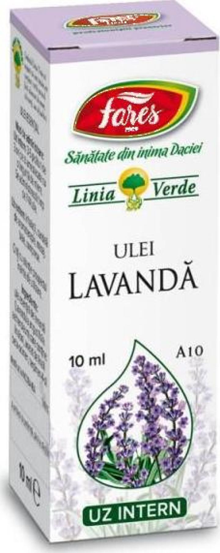 Ulei esential de Lavanda A10 - 10 ml Fares