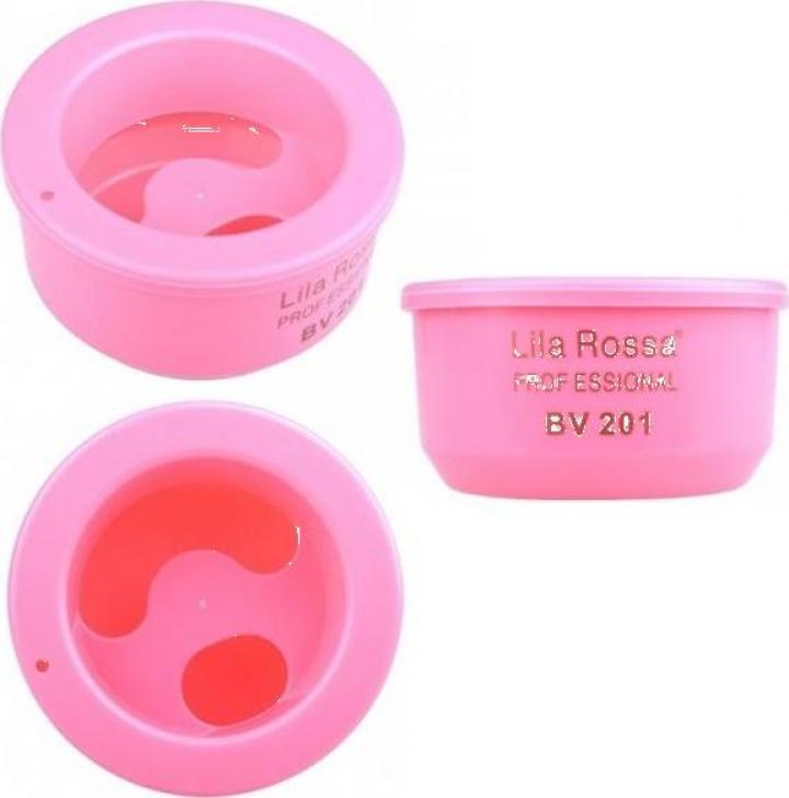 Bol pentru manichiura din plastic roz BV201